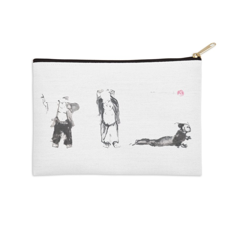 Chi Kung and Yoga Postures Accessories Zip Pouch by arttaichi's Artist Shop