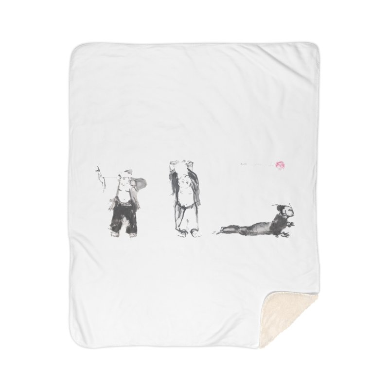 Chi Kung and Yoga Postures Home Sherpa Blanket Blanket by arttaichi's Artist Shop