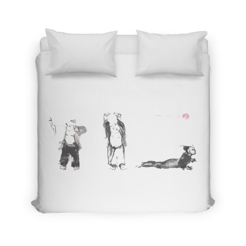Chi Kung and Yoga Postures Home Duvet by arttaichi's Artist Shop