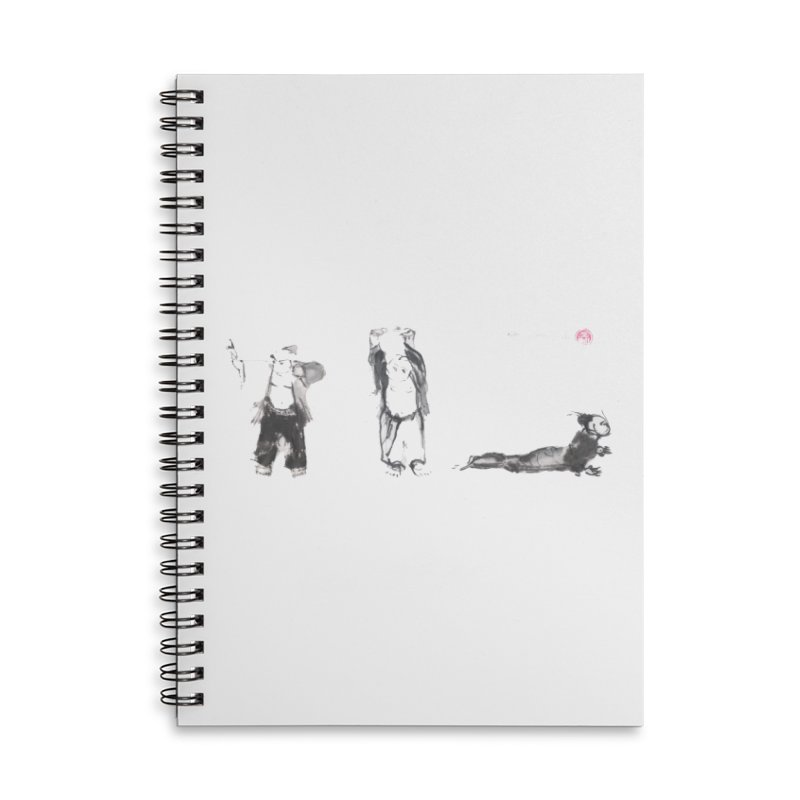 Chi Kung and Yoga Postures Accessories Lined Spiral Notebook by arttaichi's Artist Shop