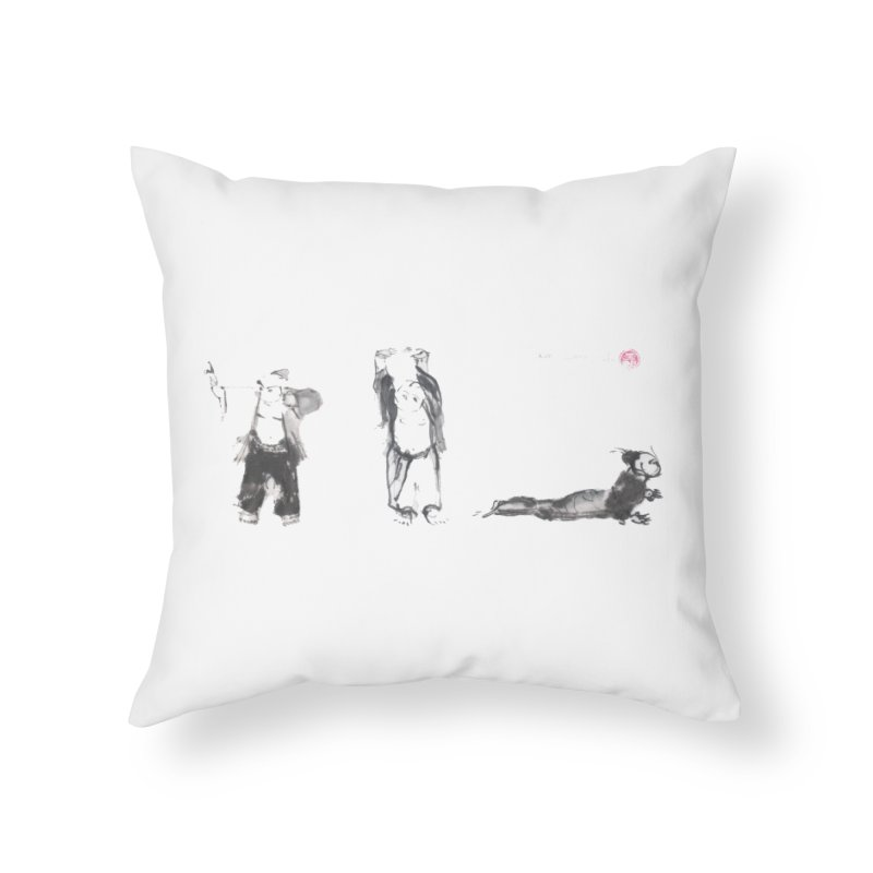 Chi Kung and Yoga Postures Home Throw Pillow by arttaichi's Artist Shop