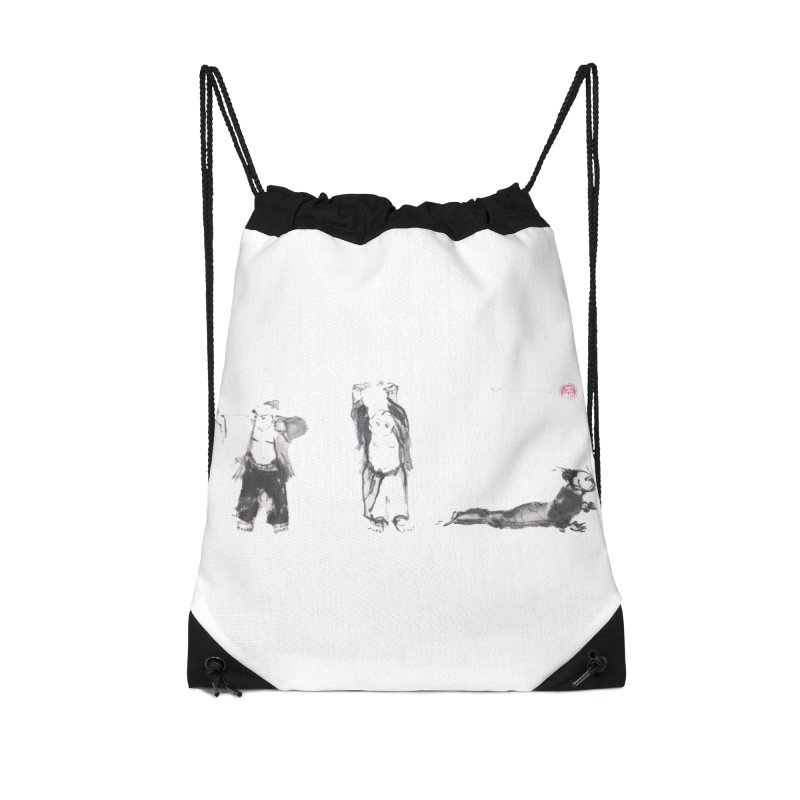 Chi Kung and Yoga Postures Accessories Drawstring Bag Bag by arttaichi's Artist Shop