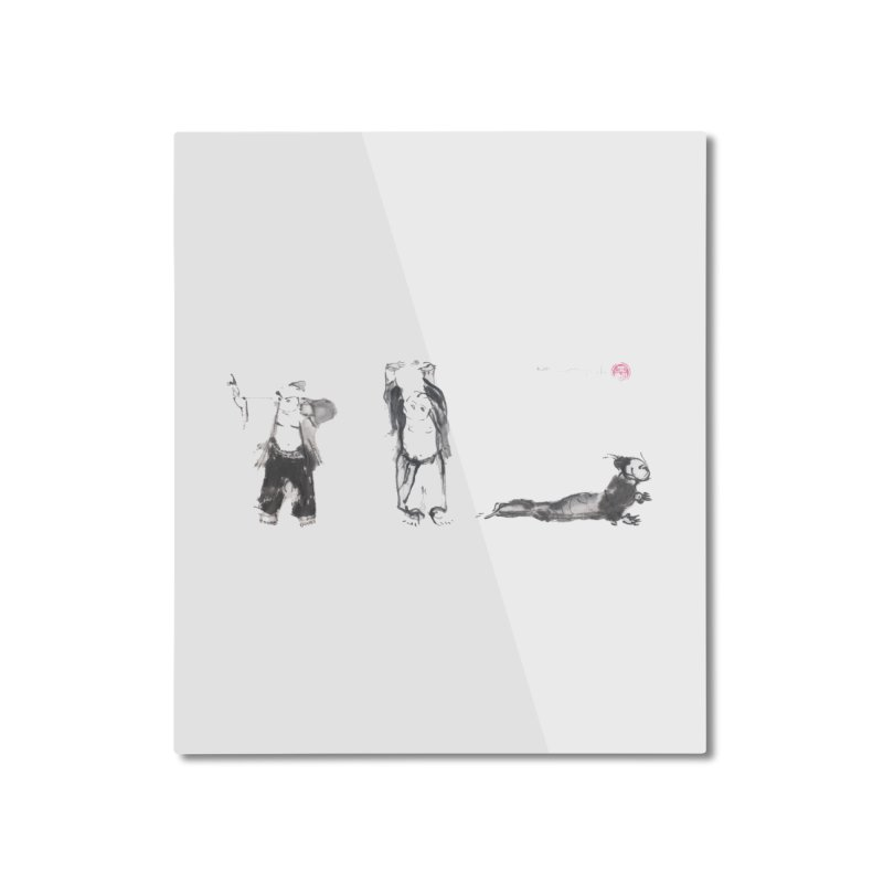 Chi Kung and Yoga Postures Home Mounted Aluminum Print by arttaichi's Artist Shop