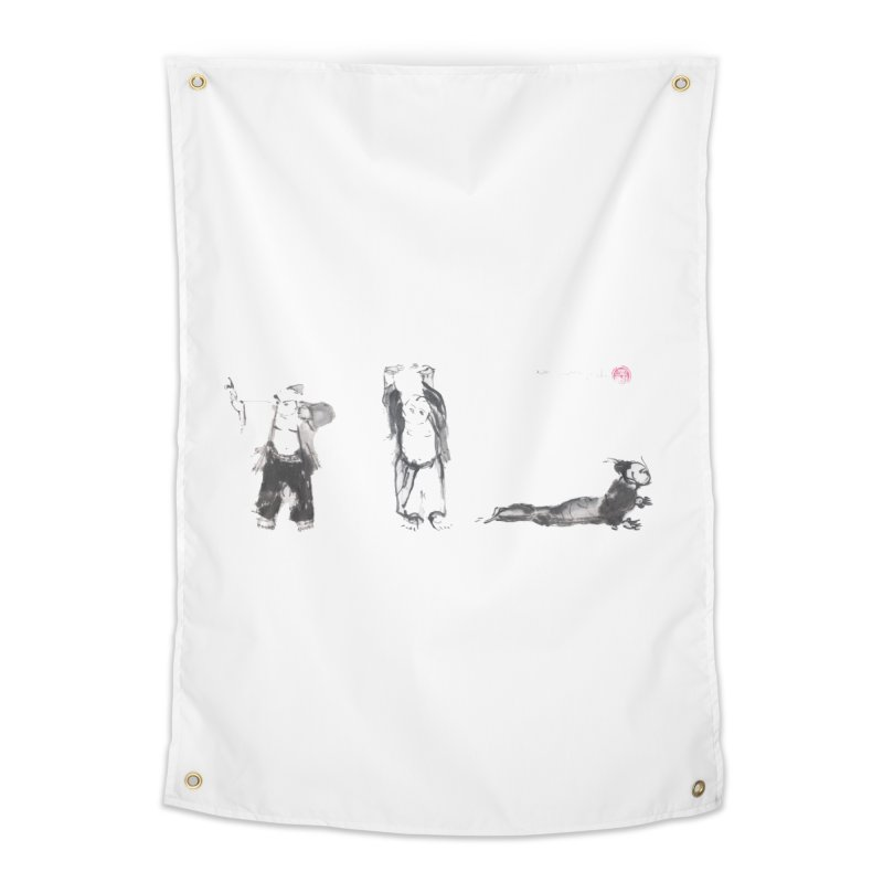 Chi Kung and Yoga Postures Home Tapestry by arttaichi's Artist Shop