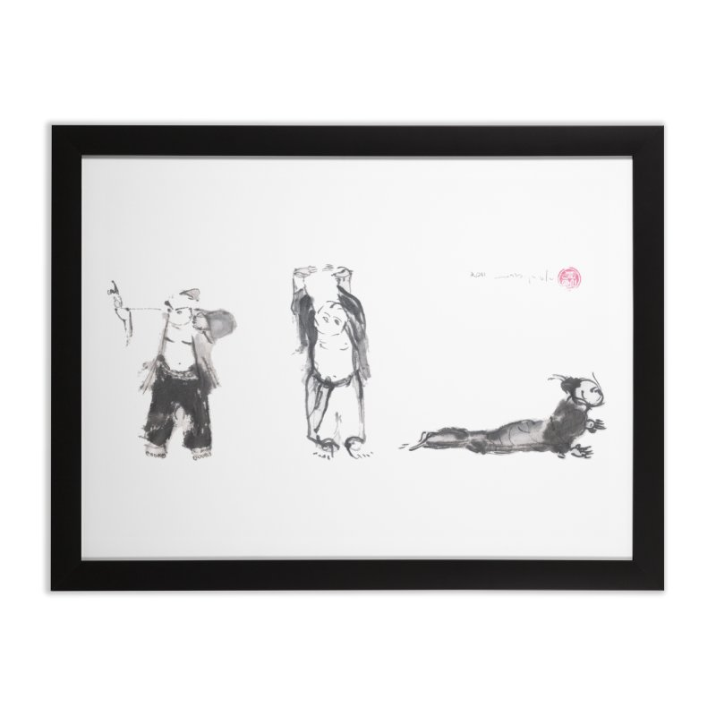 Chi Kung and Chinese Yoga postures Home Framed Fine Art Print by arttaichi's Artist Shop