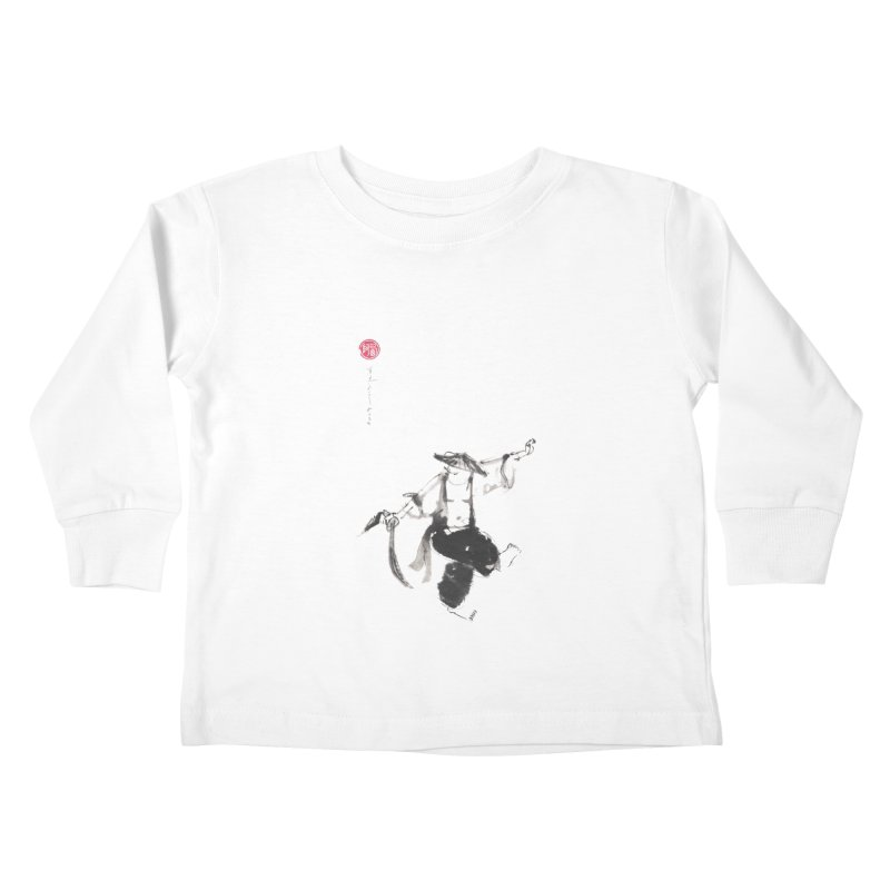 Tai Chi Broad Sword - Saber Kids Toddler Longsleeve T-Shirt by arttaichi's Artist Shop