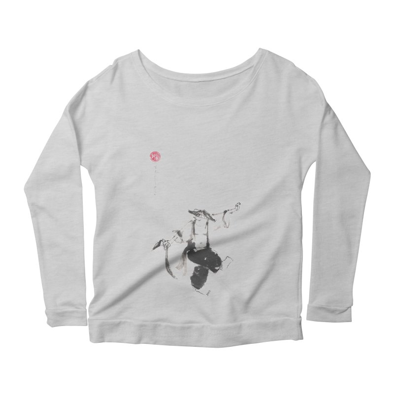 Tai Chi Broad Sword - Saber Women's Scoop Neck Longsleeve T-Shirt by arttaichi's Artist Shop