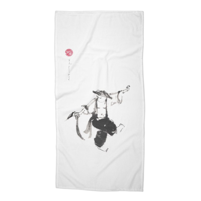 Tai Chi Broad Sword - Saber Accessories Beach Towel by arttaichi's Artist Shop