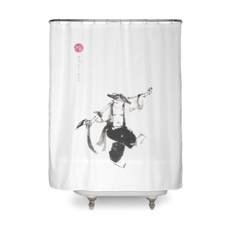 Tai Chi Broad Sword - Saber Home Shower Curtain by arttaichi's Artist Shop