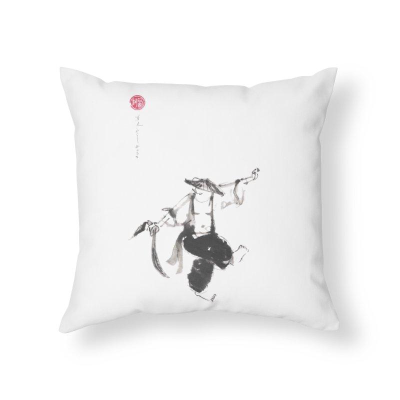 Tai Chi Broad Sword - Saber Home Throw Pillow by arttaichi's Artist Shop