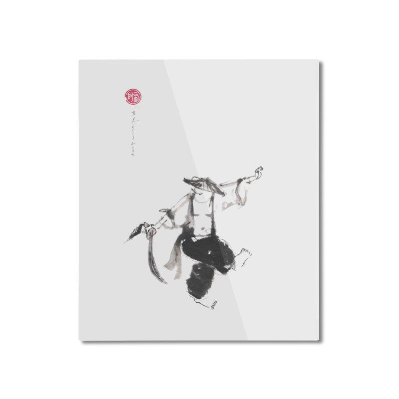 Tai Chi Broad Sword - Saber Home Mounted Aluminum Print by arttaichi's Artist Shop