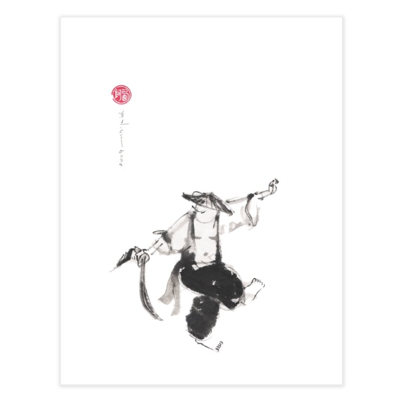 Tai Chi Broad Sword Saber Home Fine Art Print by arttaichi's Artist Shop