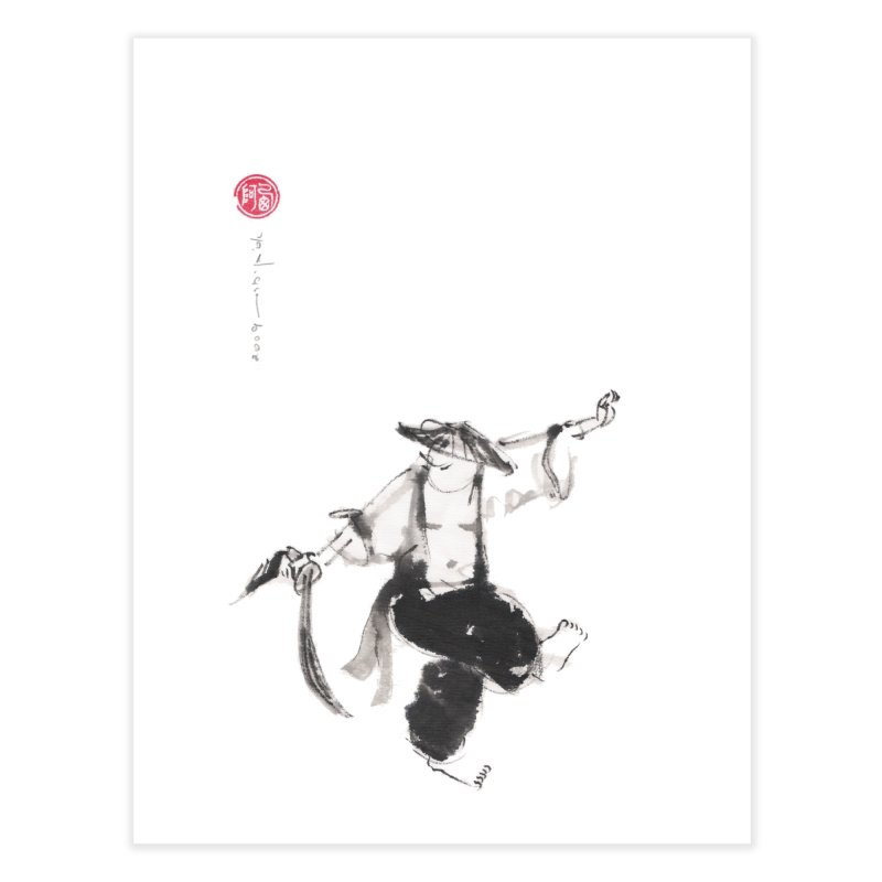 Tai Chi Broad Sword Saber Home Fine Art Print by arttaichi's Artist Shop