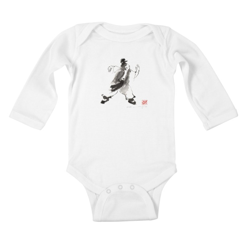 Single Whip Kids Baby Longsleeve Bodysuit by arttaichi's Artist Shop