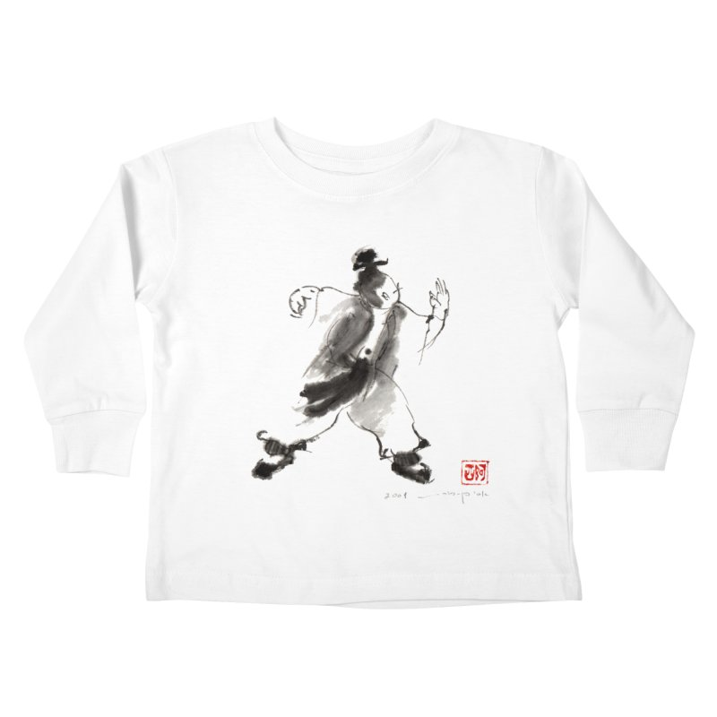 Single Whip Kids Toddler Longsleeve T-Shirt by arttaichi's Artist Shop