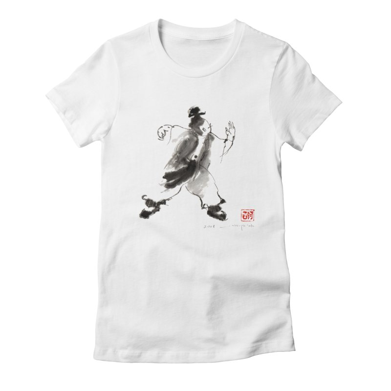 Single Whip Women's Fitted T-Shirt by arttaichi's Artist Shop