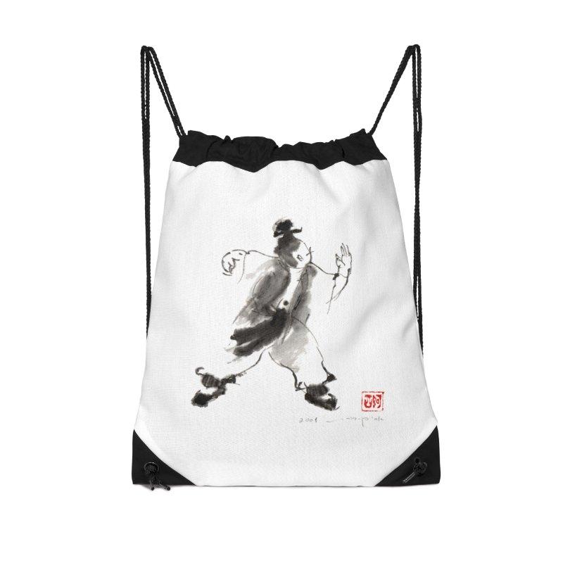 Single Whip Accessories Drawstring Bag Bag by arttaichi's Artist Shop