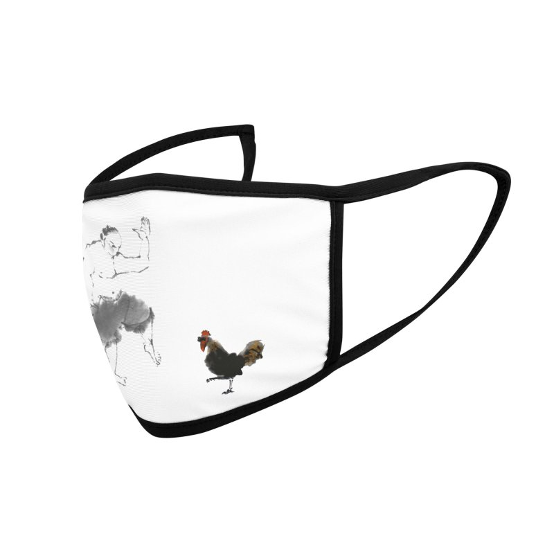 Golden Rooster Accessories Face Mask by arttaichi's Artist Shop