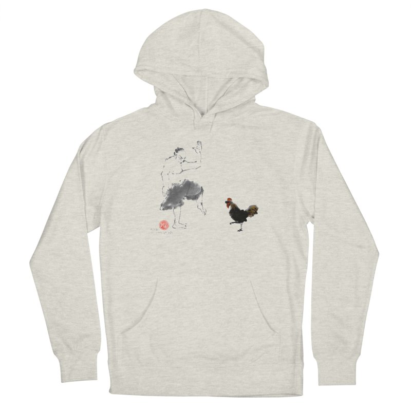 Golden Rooster Men's French Terry Pullover Hoody by arttaichi's Artist Shop