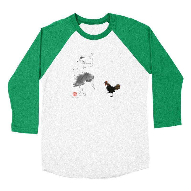 Golden Rooster Women's Baseball Triblend Longsleeve T-Shirt by arttaichi's Artist Shop