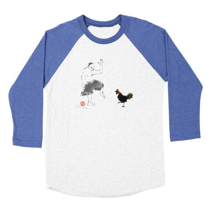Golden Rooster Men's Baseball Triblend Longsleeve T-Shirt by arttaichi's Artist Shop