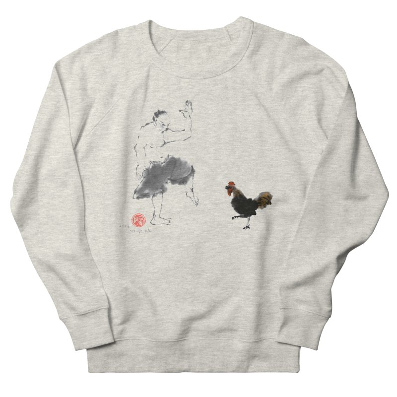 Golden Rooster Women's French Terry Sweatshirt by arttaichi's Artist Shop