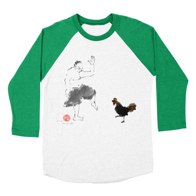 Golden Rooster Women's Baseball Triblend Longsleeve T-Shirt by arttaichi's Artist Shop