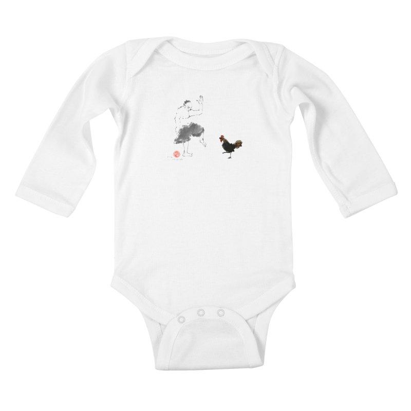 Golden Rooster Kids Baby Longsleeve Bodysuit by arttaichi's Artist Shop