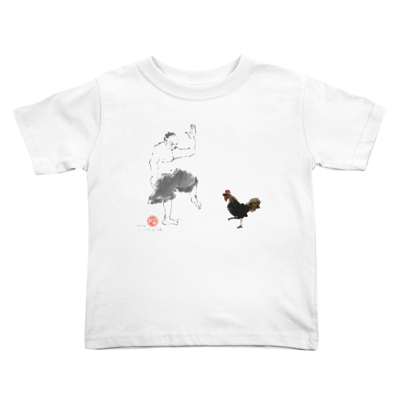 Golden Rooster Kids Toddler T-Shirt by arttaichi's Artist Shop