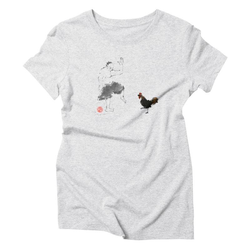 Golden Rooster Women's T-Shirt by arttaichi's Artist Shop