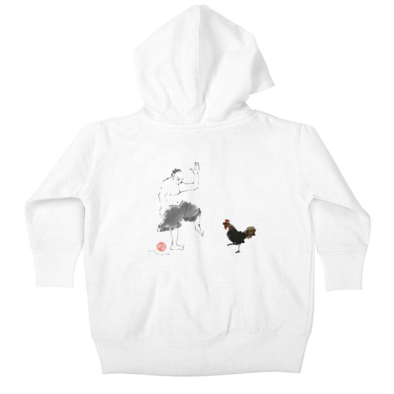 Golden Rooster Kids Baby Zip-Up Hoody by arttaichi's Artist Shop