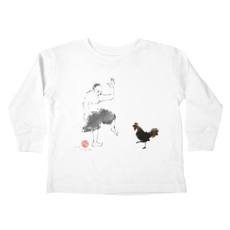 Golden Rooster Kids Toddler Longsleeve T-Shirt by arttaichi's Artist Shop