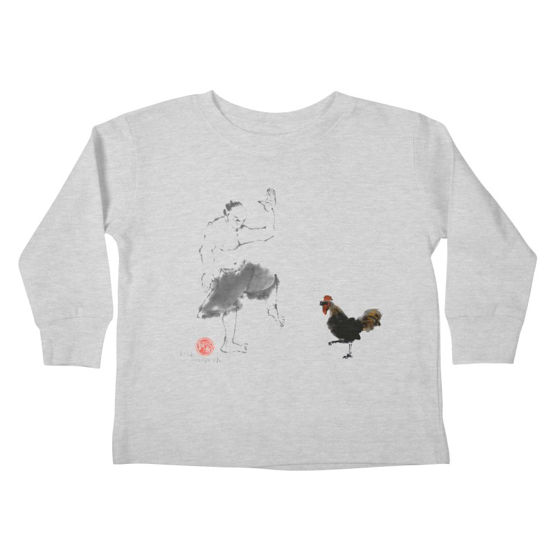 Golden Rooster Kids Toddler Longsleeve T-Shirt by arttaichi's Artist Shop
