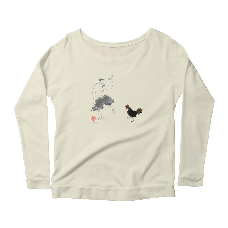 Golden Rooster Women's Scoop Neck Longsleeve T-Shirt by arttaichi's Artist Shop