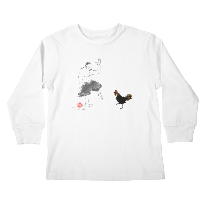 Golden Rooster Kids Longsleeve T-Shirt by arttaichi's Artist Shop