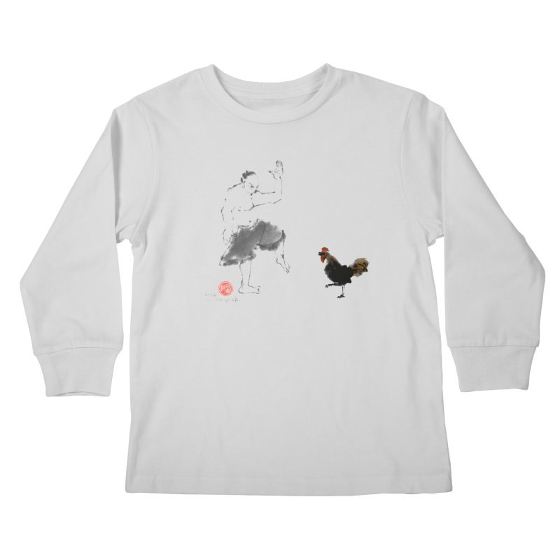 Golden Rooster Kids Longsleeve T-Shirt by arttaichi's Artist Shop
