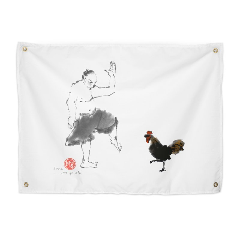 Golden Rooster Home Tapestry by arttaichi's Artist Shop