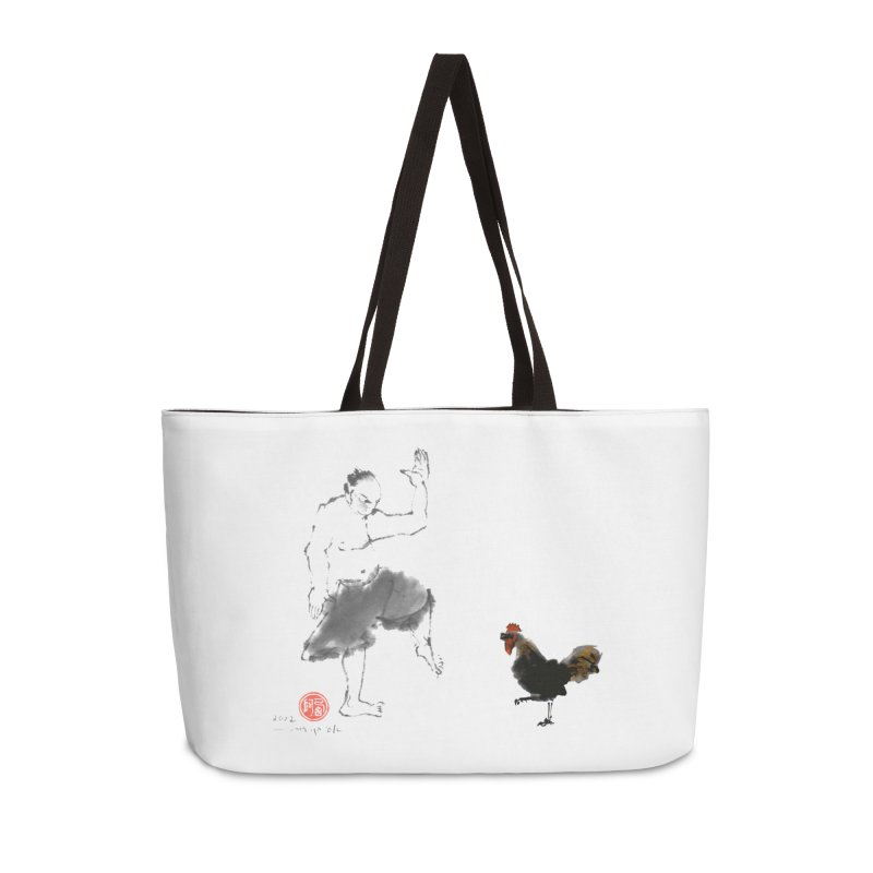 Golden Rooster Accessories Weekender Bag Bag by arttaichi's Artist Shop