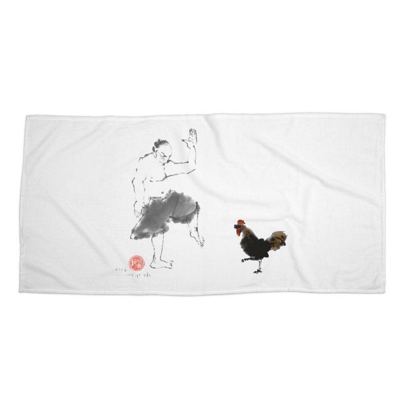 Golden Rooster Accessories Beach Towel by arttaichi's Artist Shop