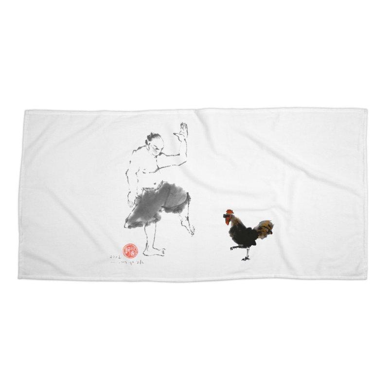 Golden Rooster Accessories Beach Towel by arttaichi's Artist Shop