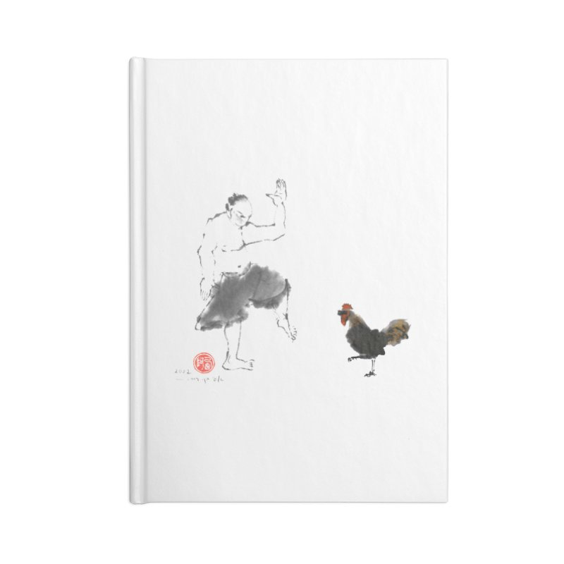 Golden Rooster Accessories Lined Journal Notebook by arttaichi's Artist Shop