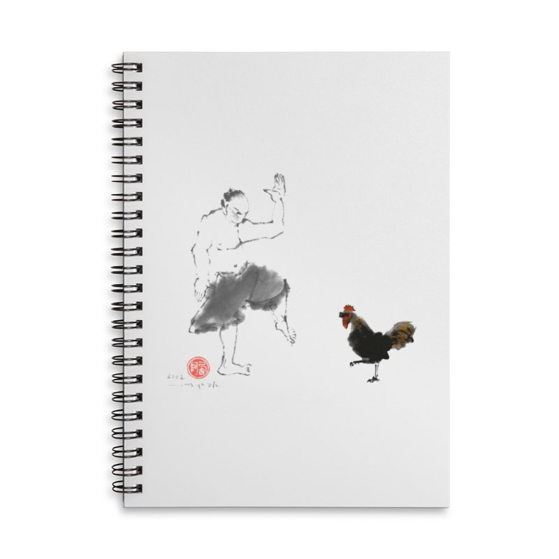 Golden Rooster Accessories Lined Spiral Notebook by arttaichi's Artist Shop
