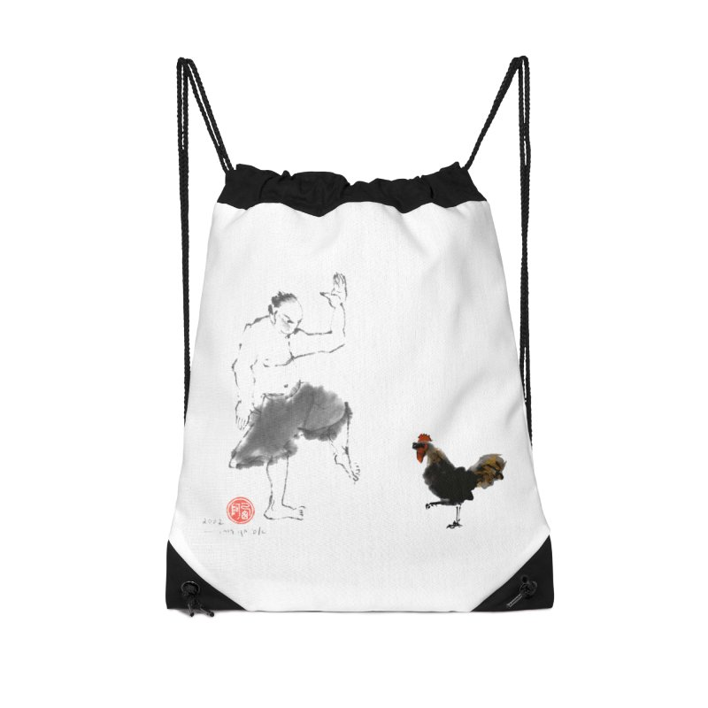 Golden Rooster Accessories Drawstring Bag Bag by arttaichi's Artist Shop