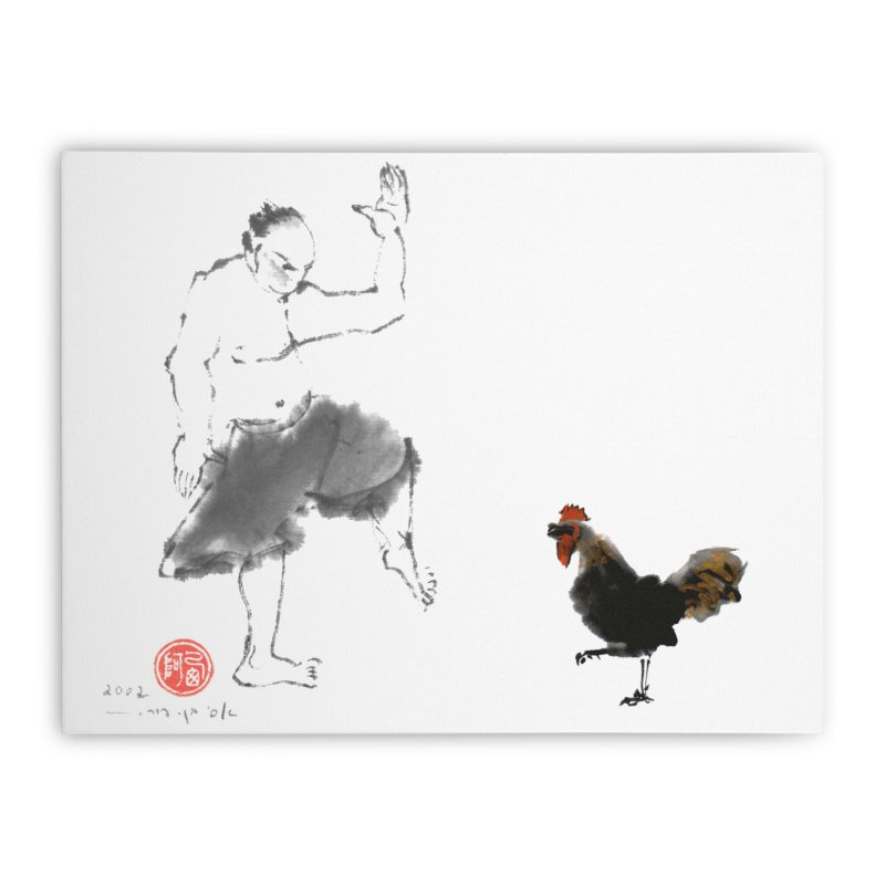 Golden Rooster Home Stretched Canvas by arttaichi's Artist Shop