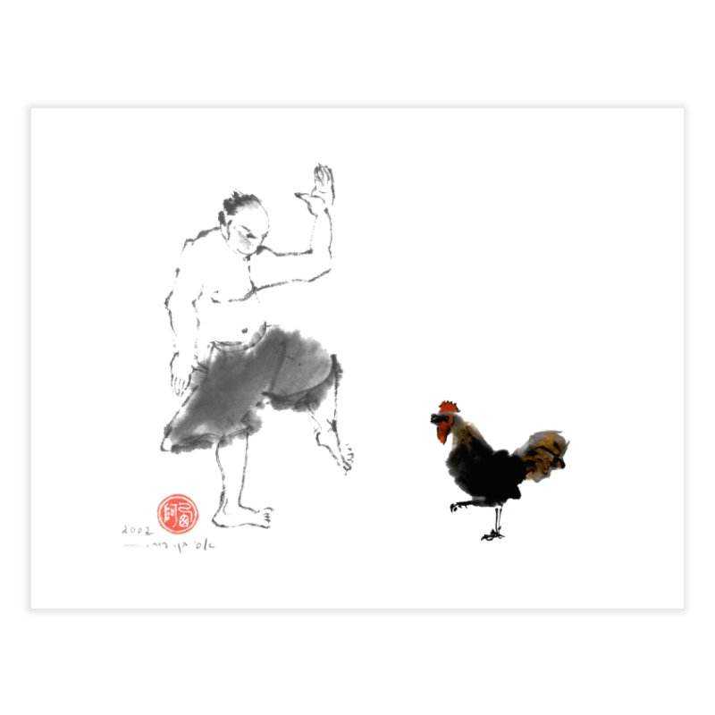 Golden Rooster Home Fine Art Print by arttaichi's Artist Shop