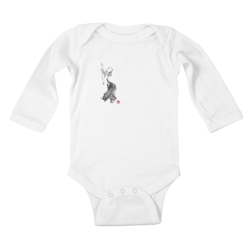 Pa Kua Double Change Kids Baby Longsleeve Bodysuit by arttaichi's Artist Shop