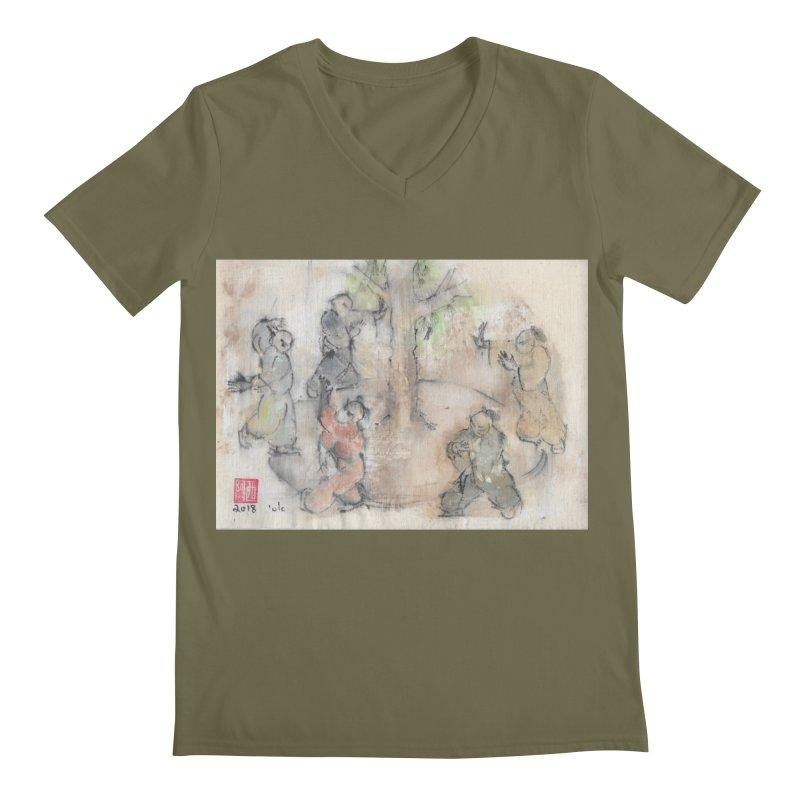 Double Change In transition Men's Regular V-Neck by arttaichi's Artist Shop