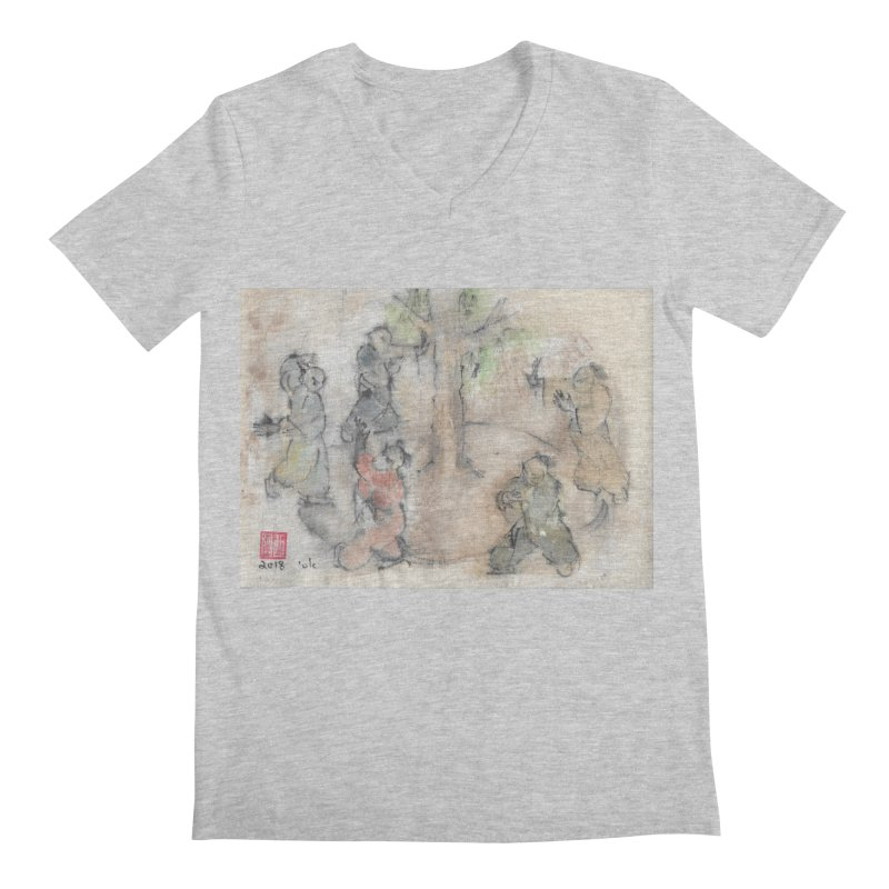 Double Change In transition Men's V-Neck by arttaichi's Artist Shop