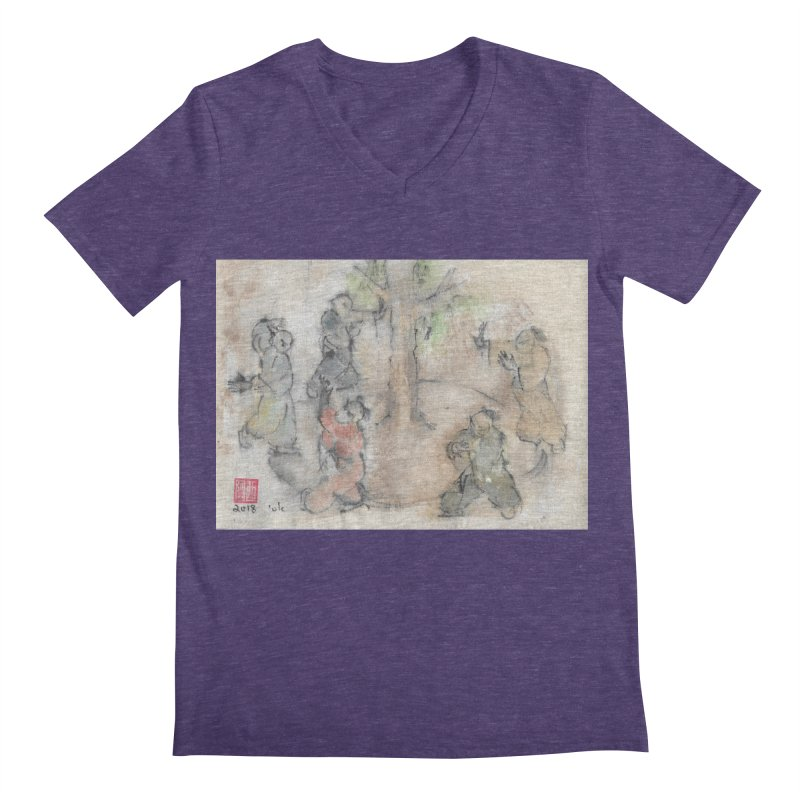 Double Change In transition Men's Regular V-Neck by arttaichi's Artist Shop