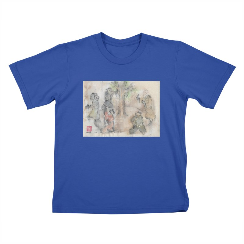Double Change In transition Kids T-Shirt by arttaichi's Artist Shop